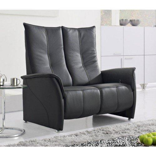 premium canape relax cuir vachette noir. Black Bedroom Furniture Sets. Home Design Ideas