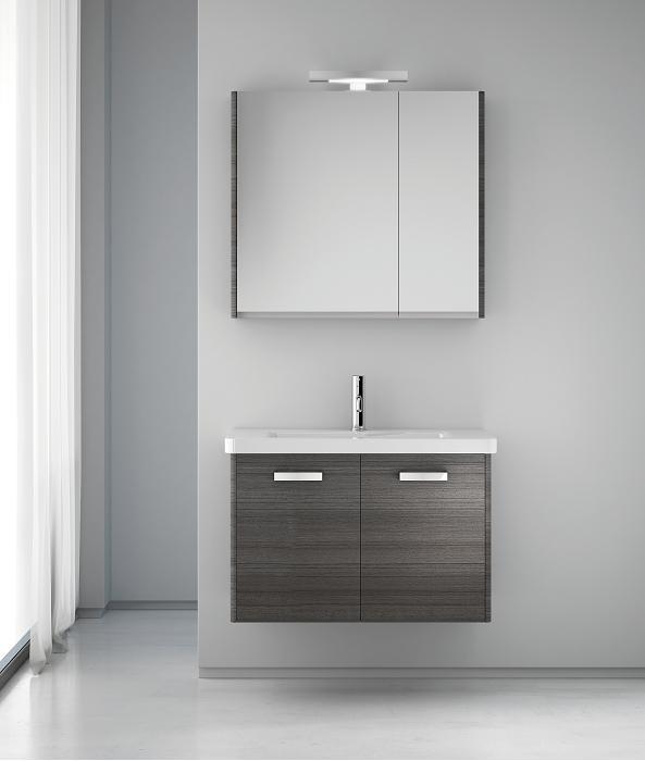 meuble simple vasque 2 portes gris c rus 80cm ipiemme comparer les prix de meuble simple vasque. Black Bedroom Furniture Sets. Home Design Ideas