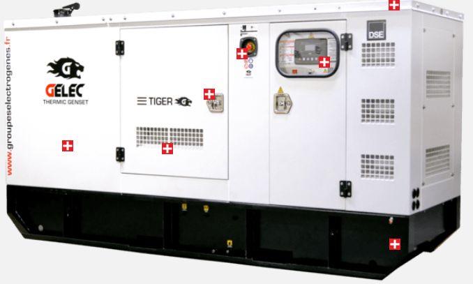 125yc tiger groupes électrogènes industriel - gelec-