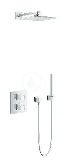 grohtherm cube ensemble de douche avec rainshower allure 230 34506000 grohe comparer les. Black Bedroom Furniture Sets. Home Design Ideas