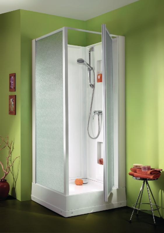 Cabine de douche izibox carree 70x70cm installation en for Installation cabine douche