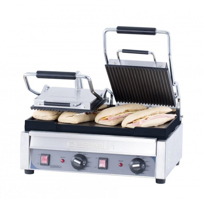 grill panini double premium rainuree lisse professionnel. Black Bedroom Furniture Sets. Home Design Ideas