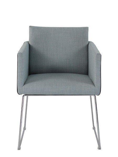 Sweep fauteuil salon tweed bleu design for Fauteuil salon bleu