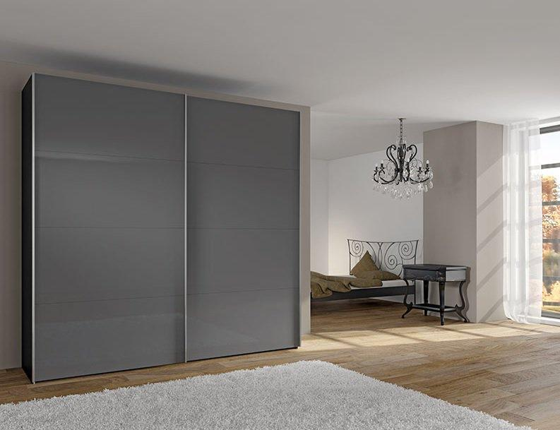 dressing design keep de jutzler 200 cm portes coulissantes en verre gris. Black Bedroom Furniture Sets. Home Design Ideas