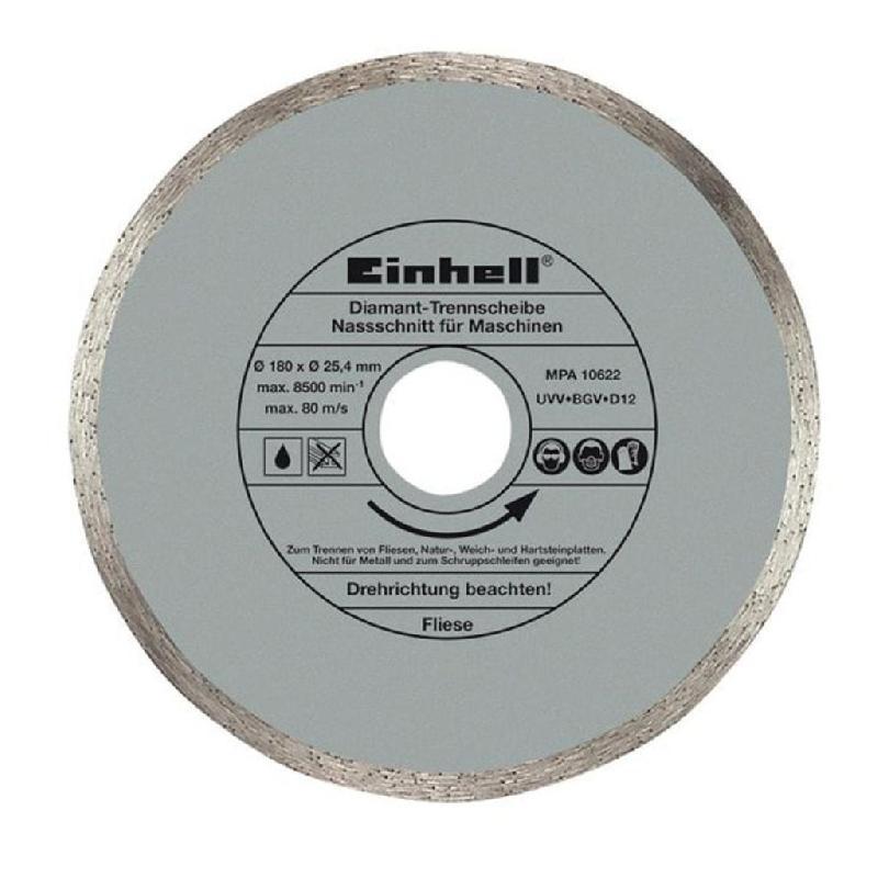 Einhell disque de coupe diamanté 180x25,4 mm rt-tc 430 u, tc-tc 618