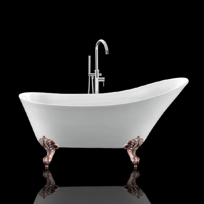 baignoire balmain 161 blanche avec pattes d 39 aigle vieux cuivre rouge comparer les prix de. Black Bedroom Furniture Sets. Home Design Ideas