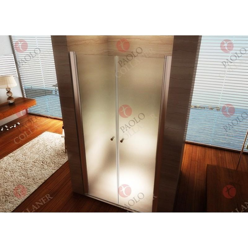 Porte de Douche 195 cm Largeur r/églable 92-96 cm Transparent