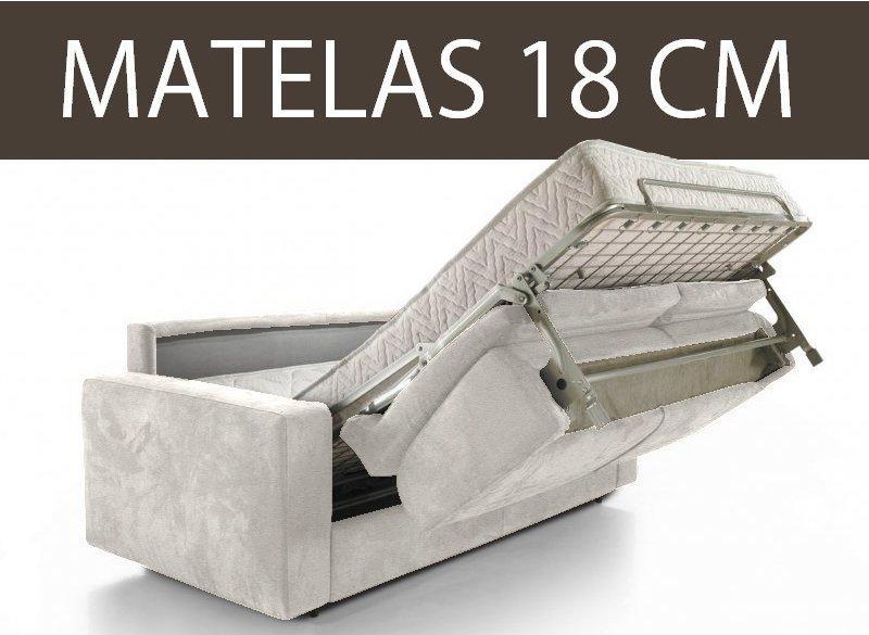 CANAPÉ LIT 3-4 PLACES MASTER CONVERTIBLE OUVERTURE RAPIDO 160 CM MATELAS 18 CM