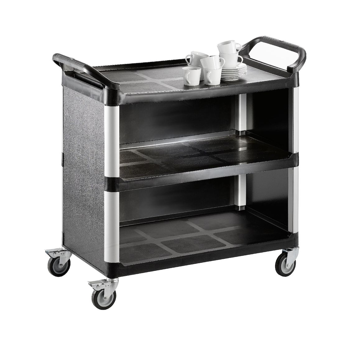 chariot de service ferme 3 tablettes xl saro. Black Bedroom Furniture Sets. Home Design Ideas