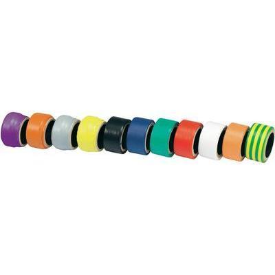 ENSEMBLE DE 11 ROULEAUX DE RUBAN ISOLANT PVC CONRAD 541611-11S 93014C605
