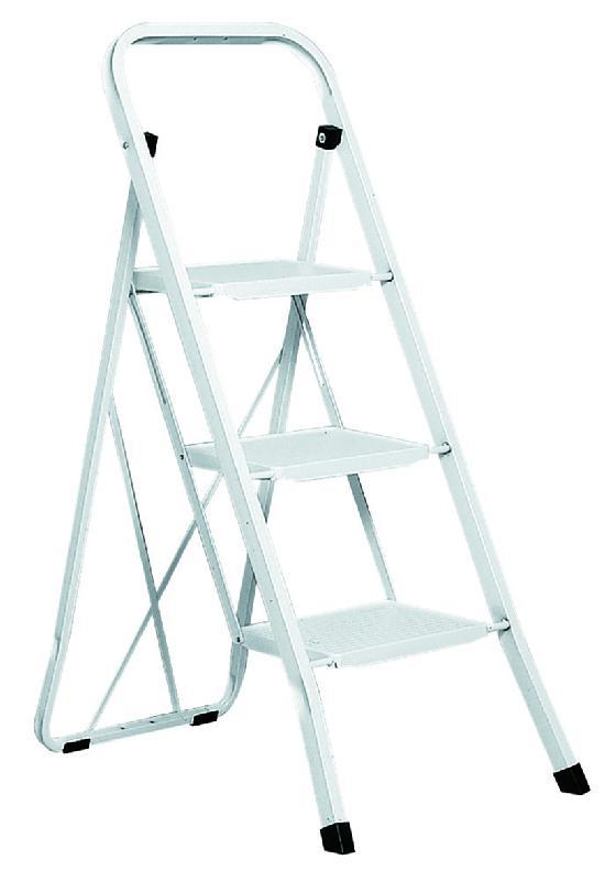 escabeau pliable safetool acier 3 marches blanc comparer les prix de escabeau pliable. Black Bedroom Furniture Sets. Home Design Ideas