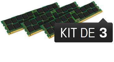 BARRETTE MÉMOIRE 6 GO MODULE ECC-REG (KIT 3X2 GO) - DDR3L 1333 MHZ