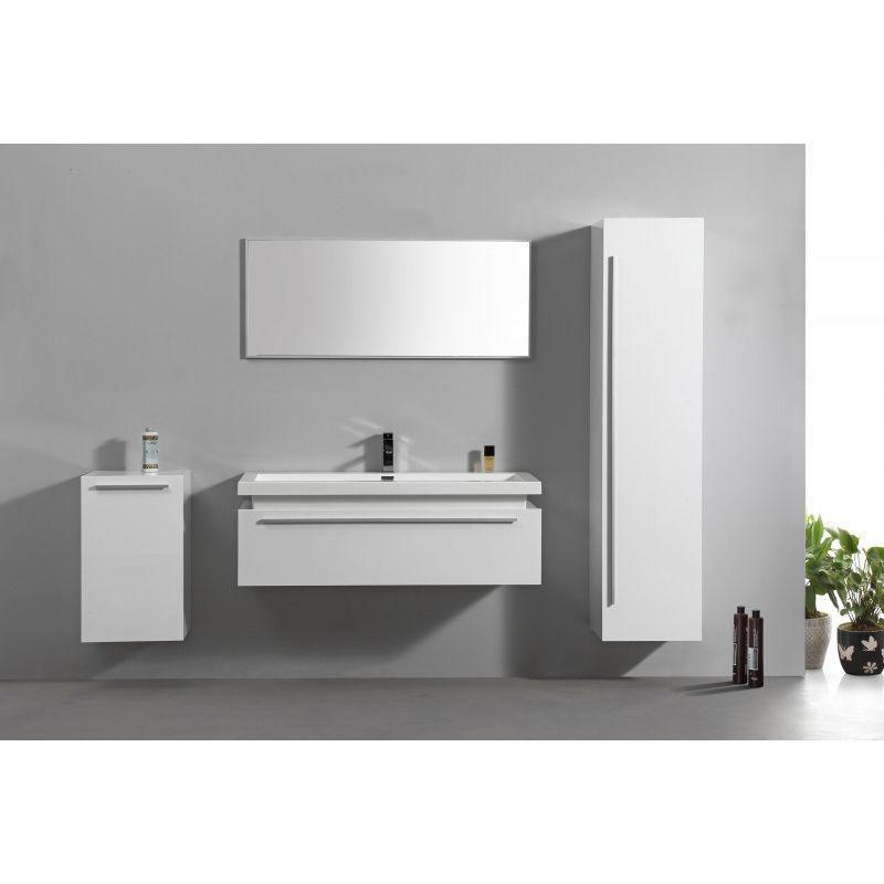 Meubles De Salle De Bains N1200 Blanc En Option Miroir Et