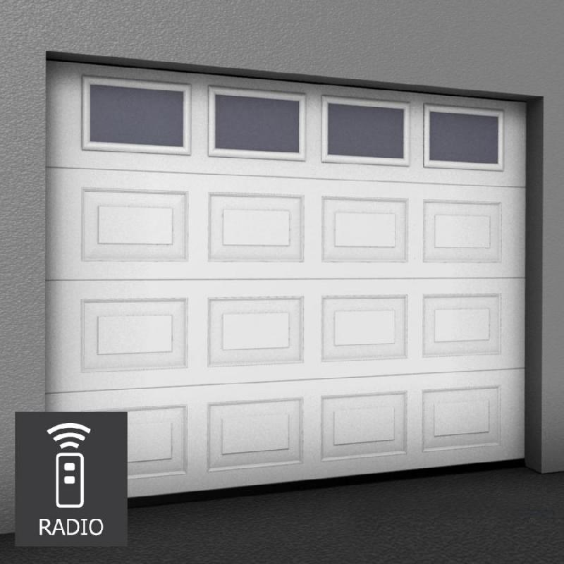 Porte de garage sectionnelle sur mesure motorisee for Porte de garage sectionnelle 220 x 200