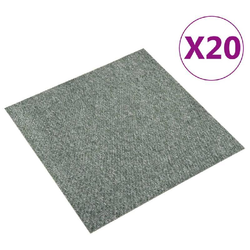 Vidaxl dalles de tapis de sol 20 pcs 5 m² 50x50 cm vert