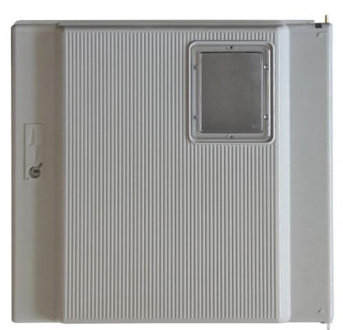 Porte de coffret electrique grise avec hublot - paninter s15