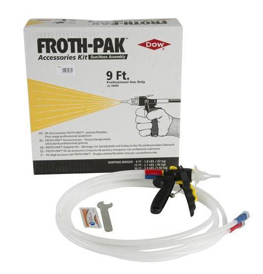 Pack tuyau pistolet pour mousse pu froth pak 180
