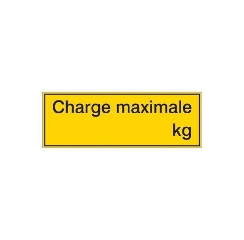 Charge maximale 297 x 105 mm  adhésif  - sticker - panneaux dangers
