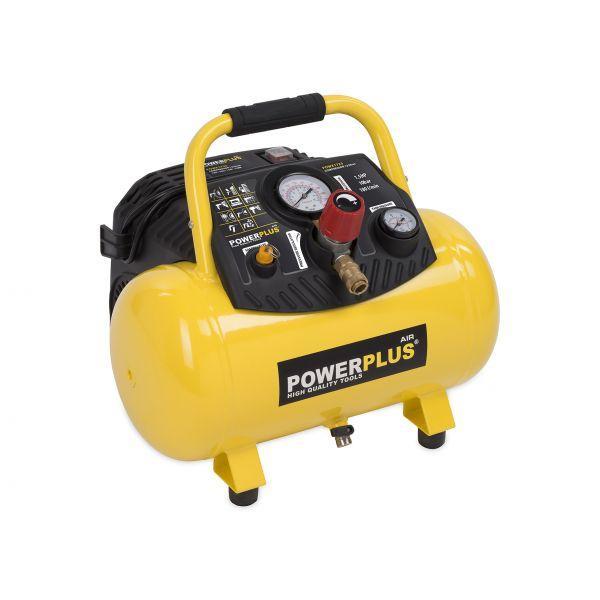 compresseur 1100w 12l sans huile 1 5pk powx1723 powerplus va01 comparer les prix de compresseur. Black Bedroom Furniture Sets. Home Design Ideas