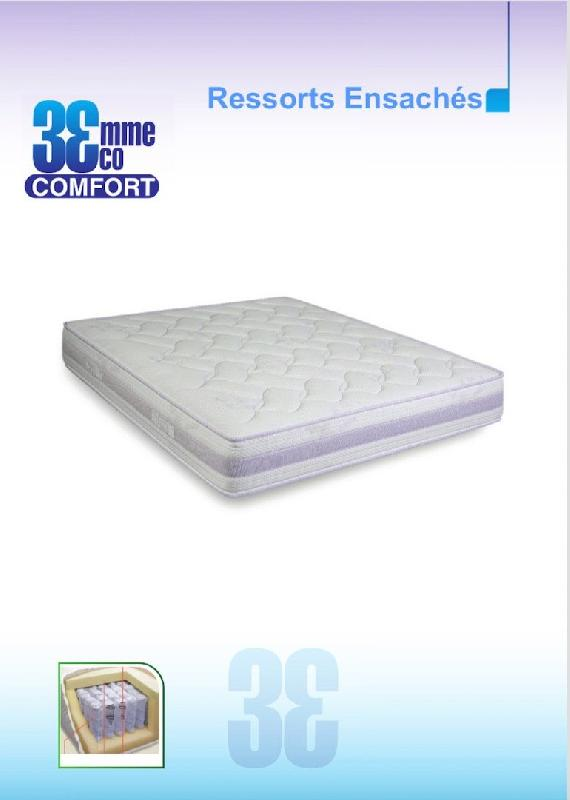 matelas eco confort ressorts ensaches 7 zones 120 23 190cm. Black Bedroom Furniture Sets. Home Design Ideas