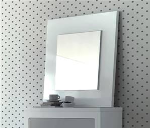 Miroirs d coratifs comparez les prix pour professionnels for Miroir carre blanc