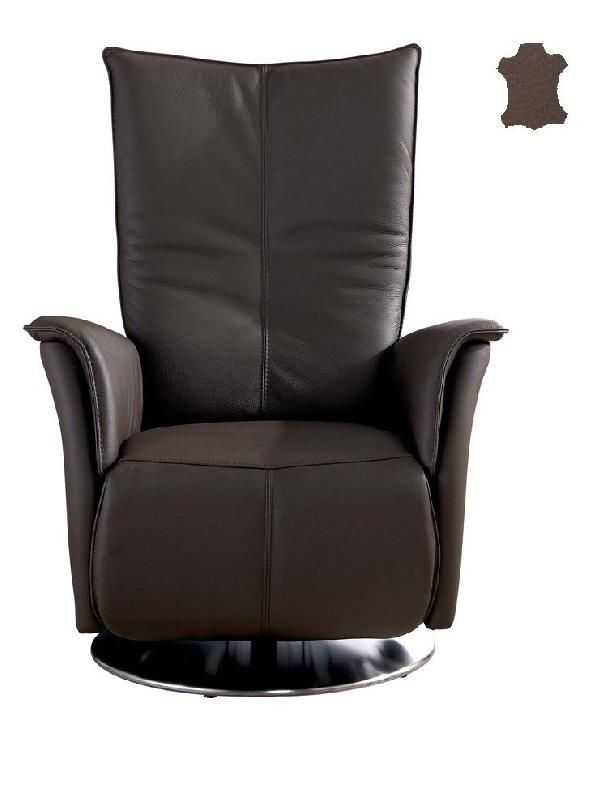 premium fauteuil relax electrique bi moteur cuir vachette marron. Black Bedroom Furniture Sets. Home Design Ideas