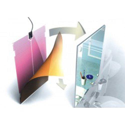 Film antibu e chauffant pour miroir 550x600mm 64w for Miroir chauffant