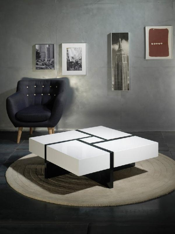 Tables basses inside75 achat vente de tables basses inside75 comparez les prix sur - Table basse blanche et noire ...