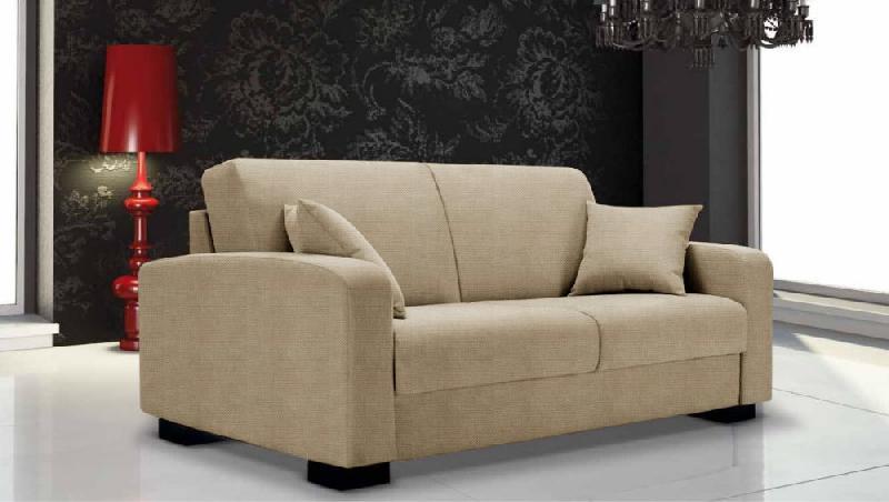 canap lit leonardo tweed beige convertible ouverture rapido ouverture assist e couchage 140. Black Bedroom Furniture Sets. Home Design Ideas