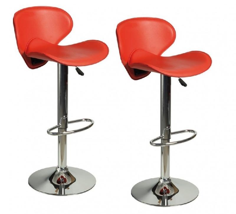 lot de 2 chaises de bar tulipa rouge comparer les prix de lot de 2 chaises de bar tulipa rouge. Black Bedroom Furniture Sets. Home Design Ideas