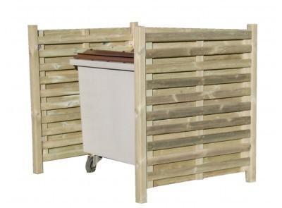 Cache conteneur simple en bois for Conteneur bois