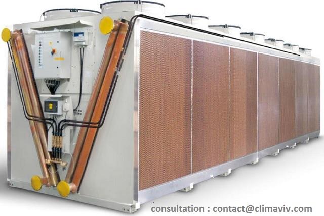 Refroidisseur adiabatique  jumbo jusqu'à 1700 kw