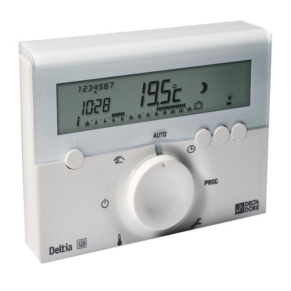 thermostat radio lectronique programmable deltia 8 3 deltadore del6050417 comparer les prix. Black Bedroom Furniture Sets. Home Design Ideas