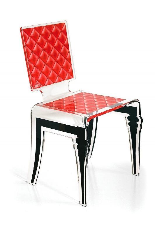 Diam Chaise Design En Plexi Rouge Par Acrila