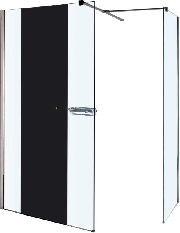 Paroi droite reflet avec miroir 120 cm verre 8mm et for Miroir reflet