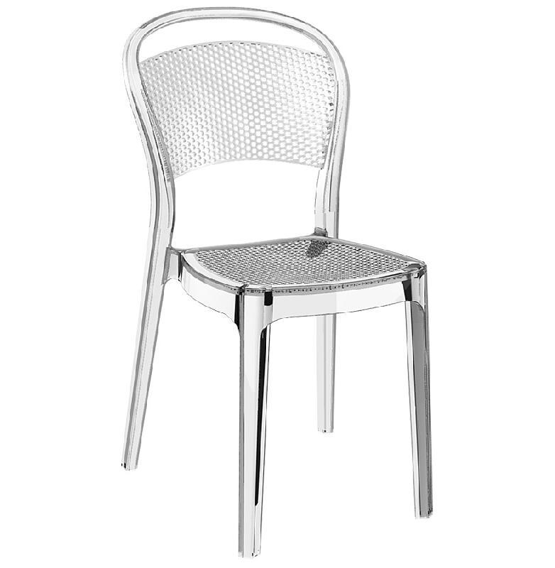 chaise design 39 storm 39 transparente en mati re plastique comparer les prix de chaise design. Black Bedroom Furniture Sets. Home Design Ideas