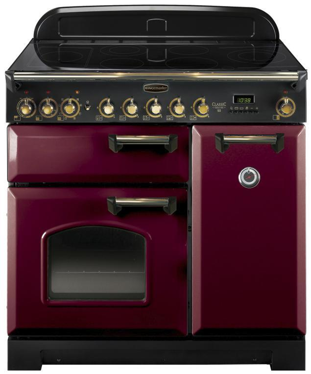 cuisini re induction falcon classic deluxe 90 cdl90eicy b eu rouge airelle laiton. Black Bedroom Furniture Sets. Home Design Ideas