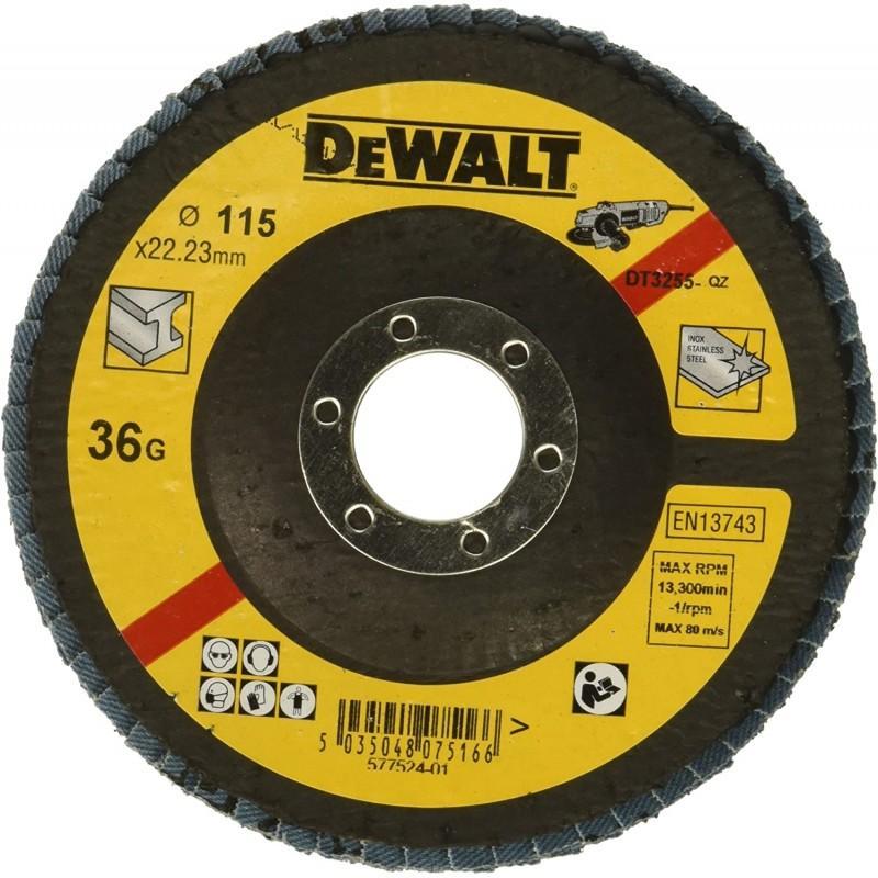Dewalt dt3255-qz disque a lamelles grain 36 ø 115mm 22.2