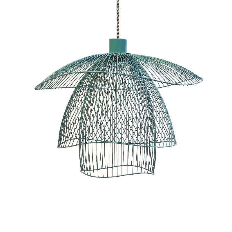 papillon suspension m tal bleu gris 56cm suspension. Black Bedroom Furniture Sets. Home Design Ideas
