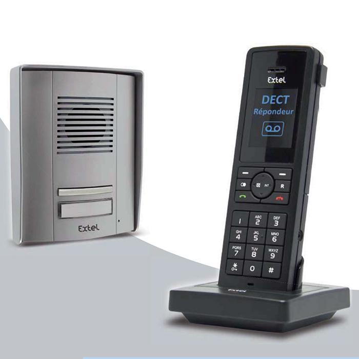 interphone t l phone dect sans fil 400m extel telia. Black Bedroom Furniture Sets. Home Design Ideas