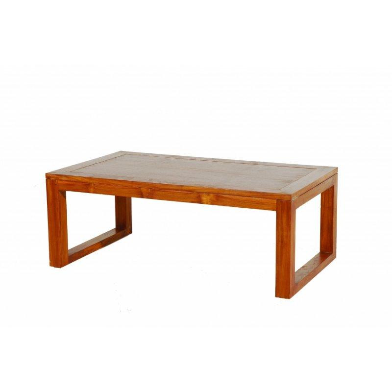 Table basse moderne 120 70cm en teck massif for Table basse teck massif