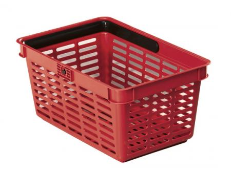1801565080 - PANIER EMPILABLE SHOPPING BASKET, 19L, POLYPRO, ROUGE
