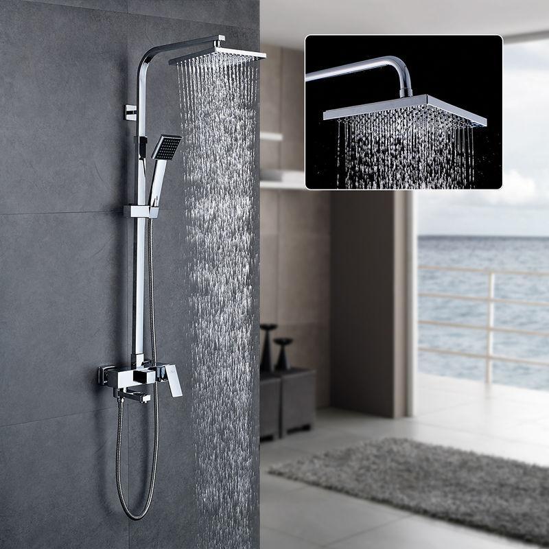 colonne de douche r glable en hauteur sytst me de douche multifonctionnel avec pomme de douche. Black Bedroom Furniture Sets. Home Design Ideas