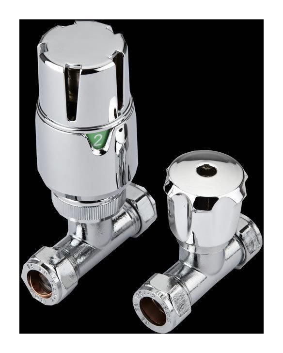 Robinet thermostatique de radiateur droit hudson reed - Radiateur avec robinet thermostatique ...