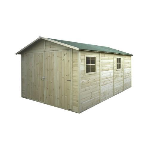 France abris produits garages et carports en bois for Garage bois traite autoclave