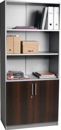 biblioth que 2 portes battantes basses kouros coliris. Black Bedroom Furniture Sets. Home Design Ideas