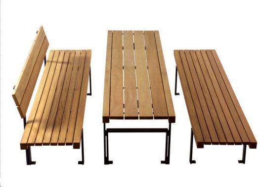 table de pique nique tavolo bois. Black Bedroom Furniture Sets. Home Design Ideas