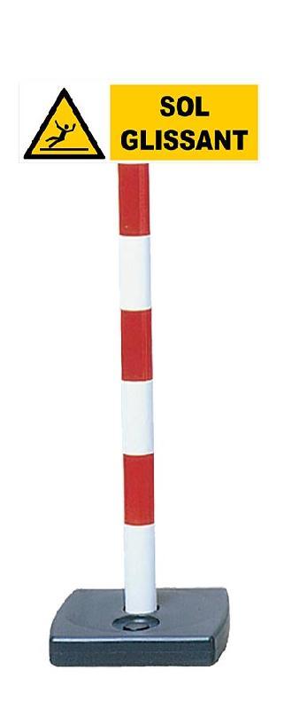 Kit poteau PVC avec panneau - Sol glissant - 2001410