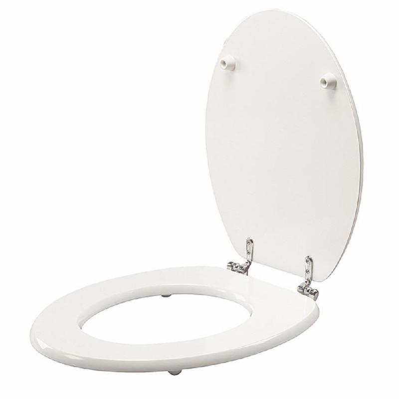 Abattant wc bois laqu blanc comparer les prix de abattant - Abattant wc bois ...