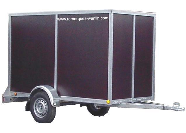 remorque fourgon fermee 2 5 m x m x 1 5 m bois. Black Bedroom Furniture Sets. Home Design Ideas